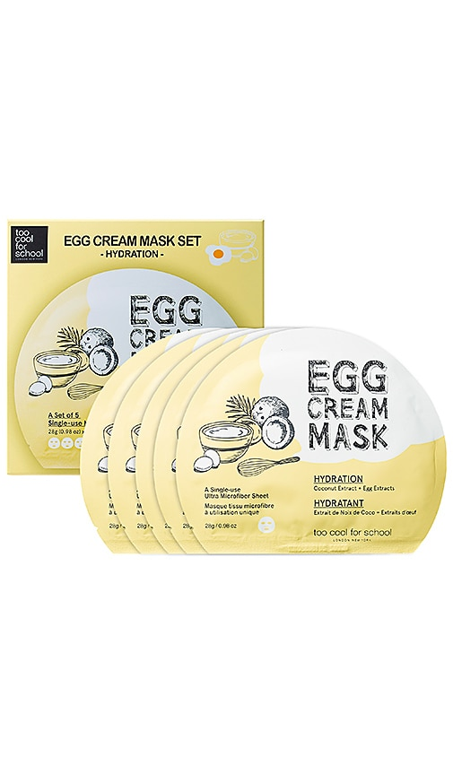 Egg Cream Mask Hydration Set