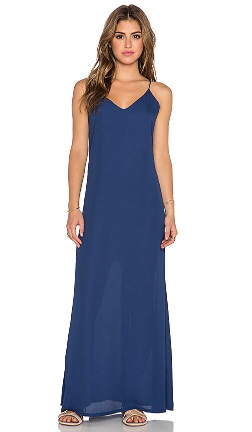 Three Eighty Two Lachlan Slip Maxi Dress in Navy