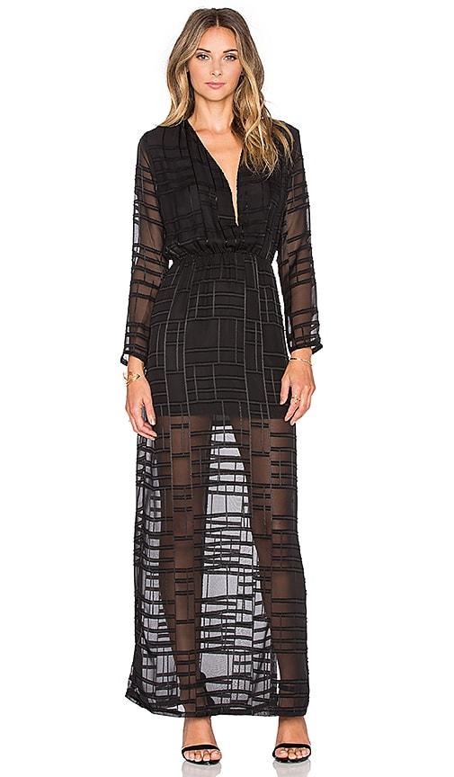 Three Eighty Two Gemma Deep V Dress in Elara