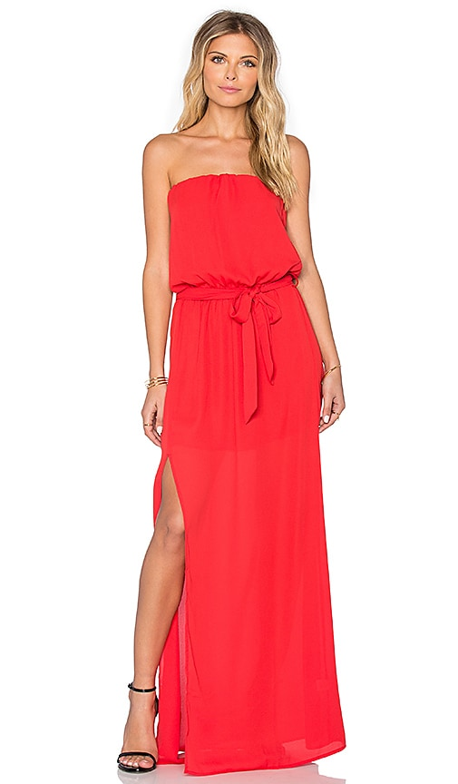 Three Eighty Two Jude Tube Dress in Scarlet