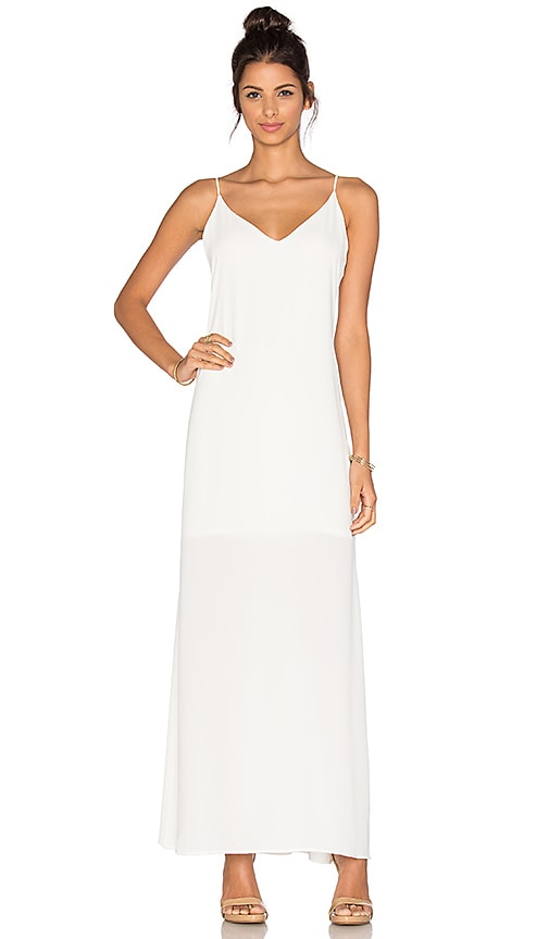 Three Eighty Two Lachlan Slip Maxi Dress in Ivory