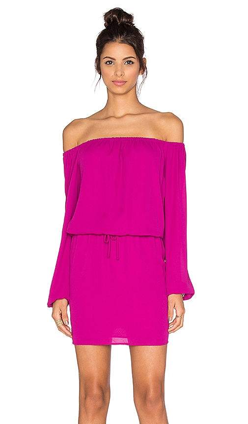 Three Eighty Two Willow Off the Shoulder Dress in Orchid