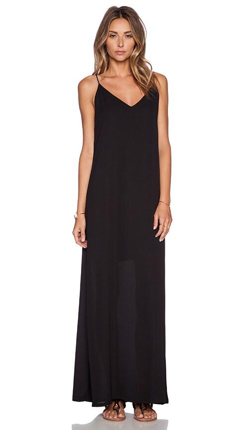Three Eighty Two Lachlan Slip Maxi Dress in Black