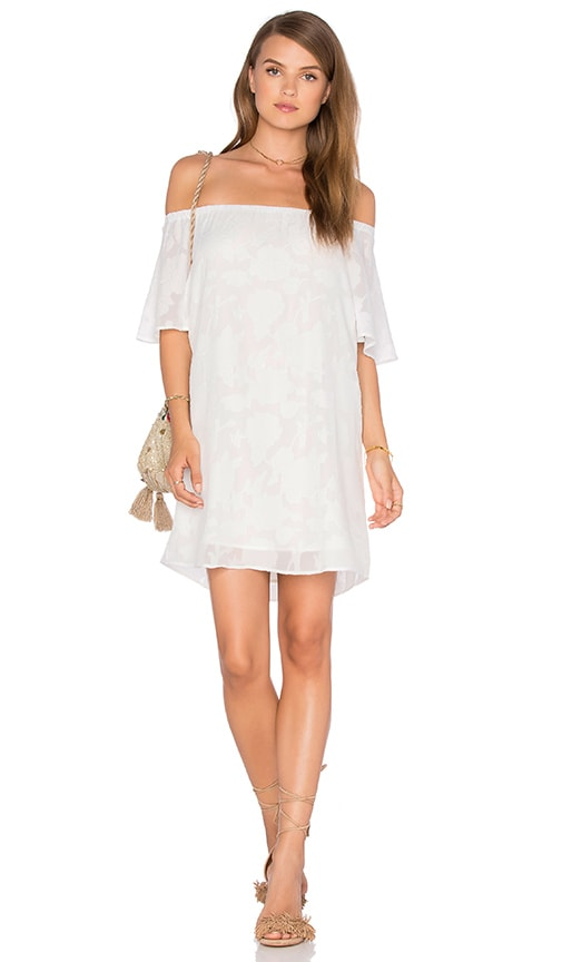 Three Eighty Two Nina Off Shoulder Mini Dress in Bloom