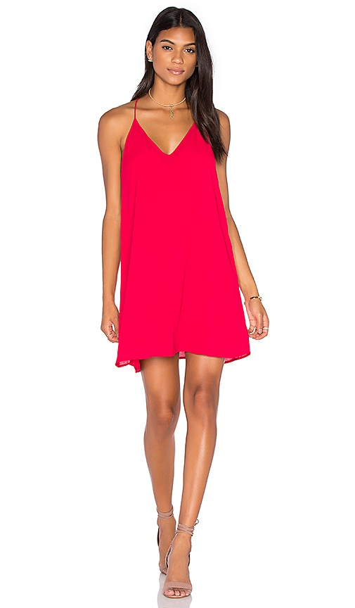 Three Eighty Two Tanner Slip Mini Dress in Red