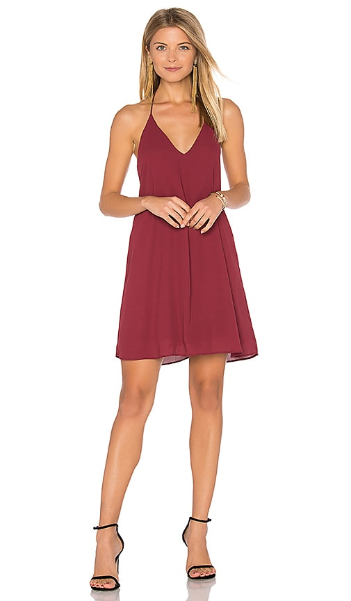Three Eighty Two Tanner Slip Dress in Burgundy