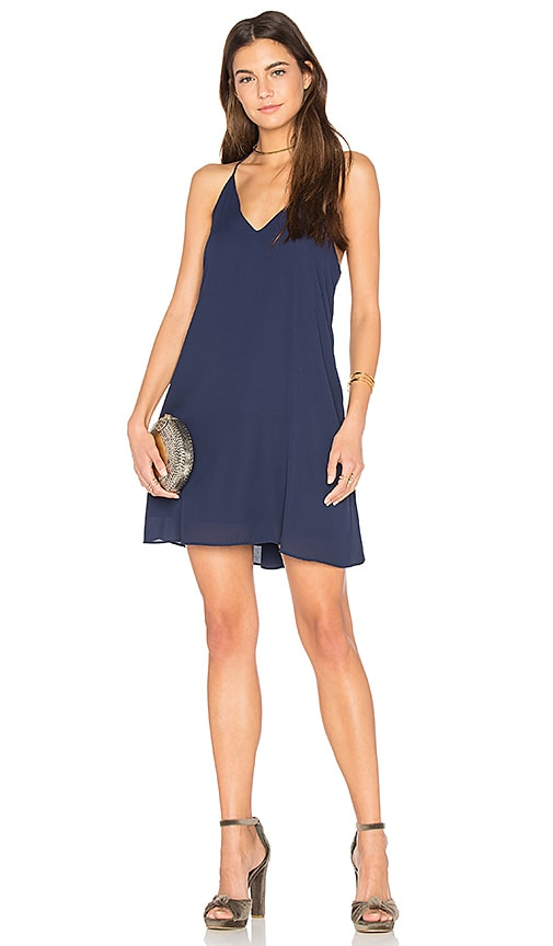 Three Eighty Two Tanner Slip Dress in Navy