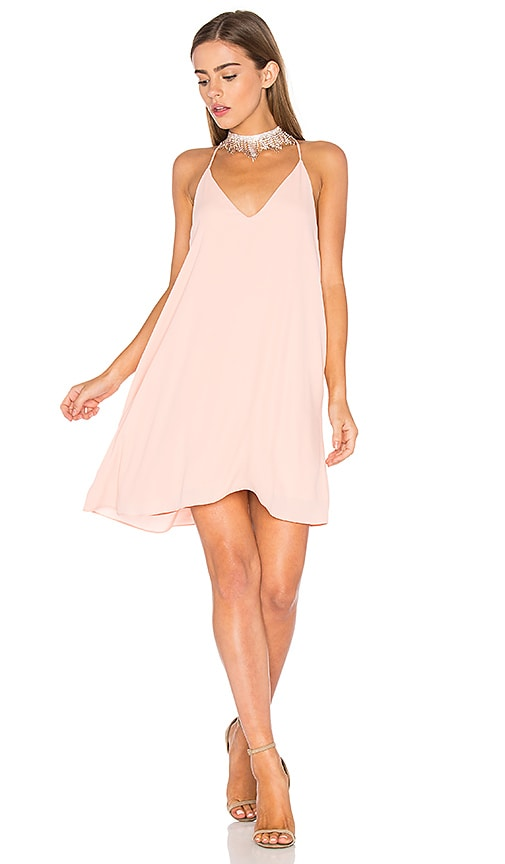 Three Eighty Two Tanner Slip Dress in Pink
