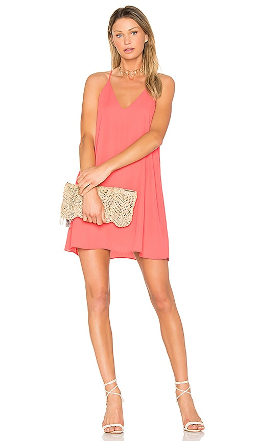 Three Eighty Two Tanner Slip Dress in Orange