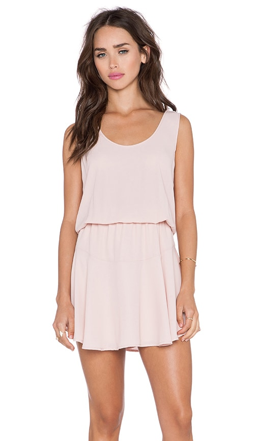 Three Eighty Two Lila Ruffle Dress in Blush