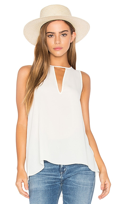 Three Eighty Two Brie Tank in White