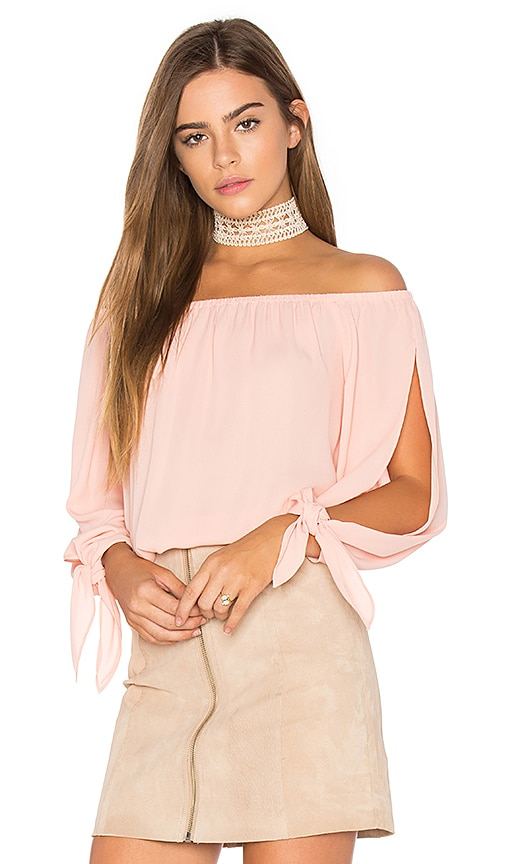 Three Eighty Two Skyler Top in Pink