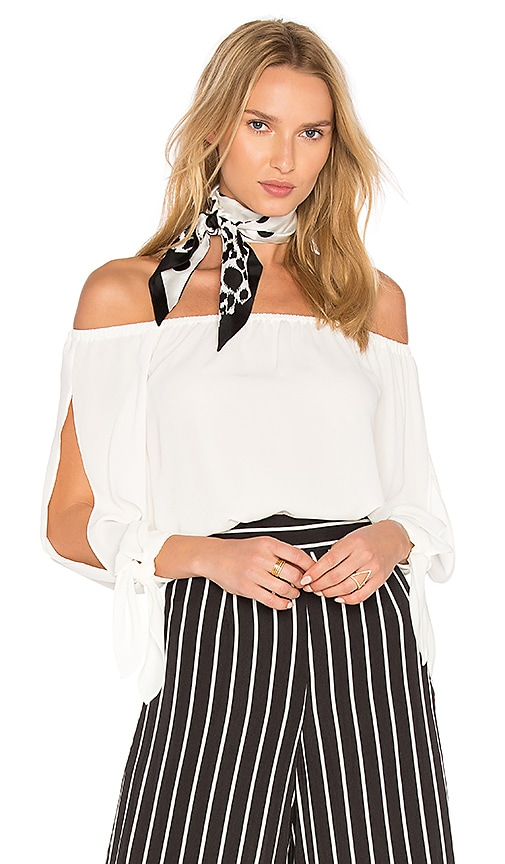 Three Eighty Two Skyler Top in White
