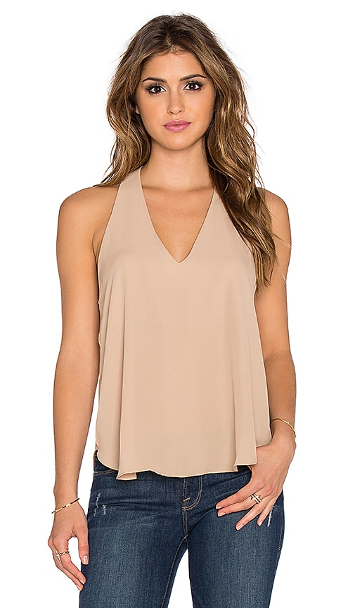Three Eighty Two Owen V Racerback Tank in Taupe