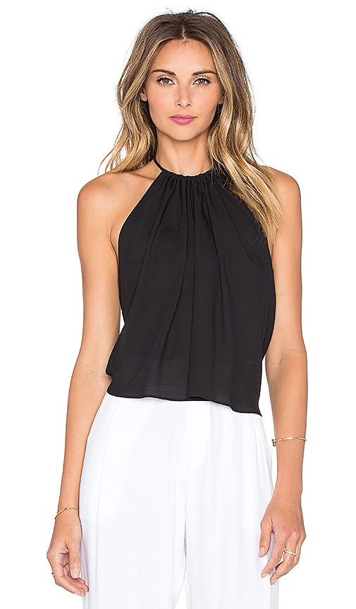 Three Eighty Two Freja Halter Tank in Black