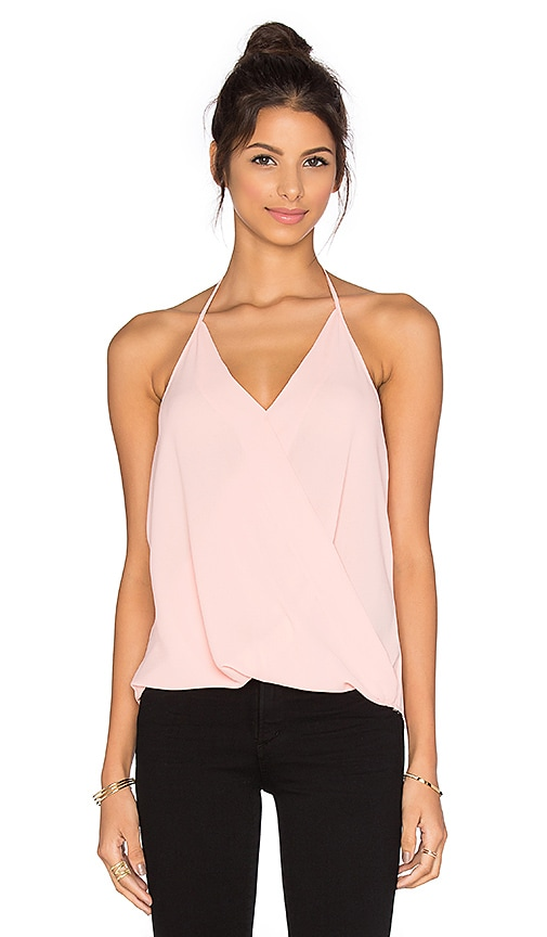 Three Eighty Two Em Halter Top in Peach