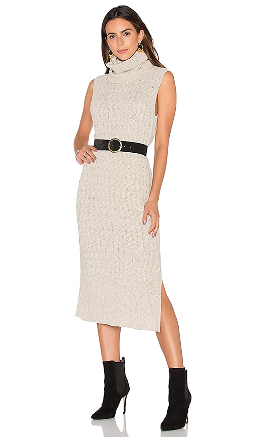 Tejido Maxi Sweater Dress in Beige