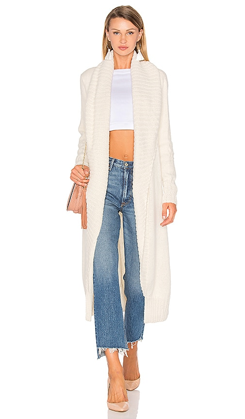Tejido Long Cardigan in Ivory
