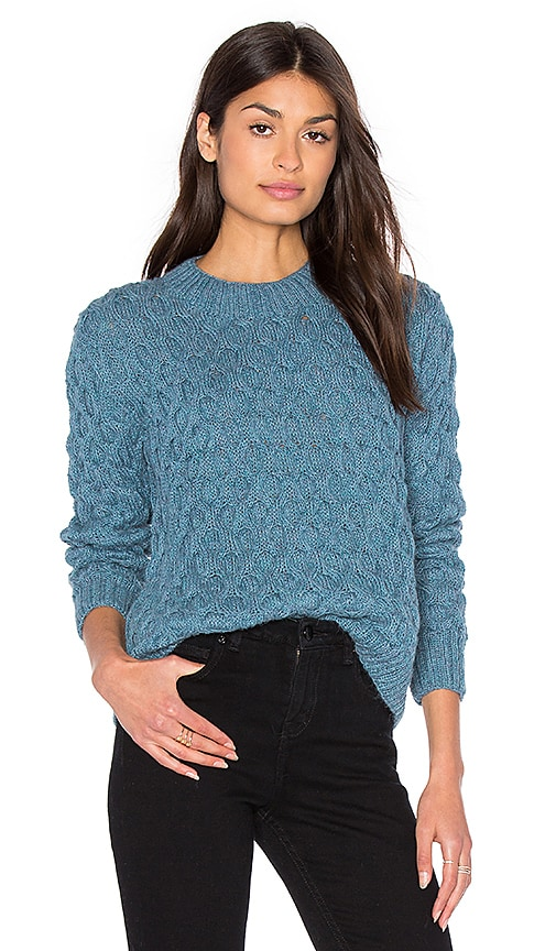 Tejido Honeycomb Crew Neck Sweater in Slate