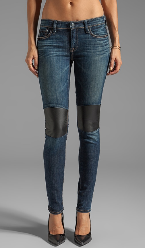 Tommy Skinny with Leather Knee Patch