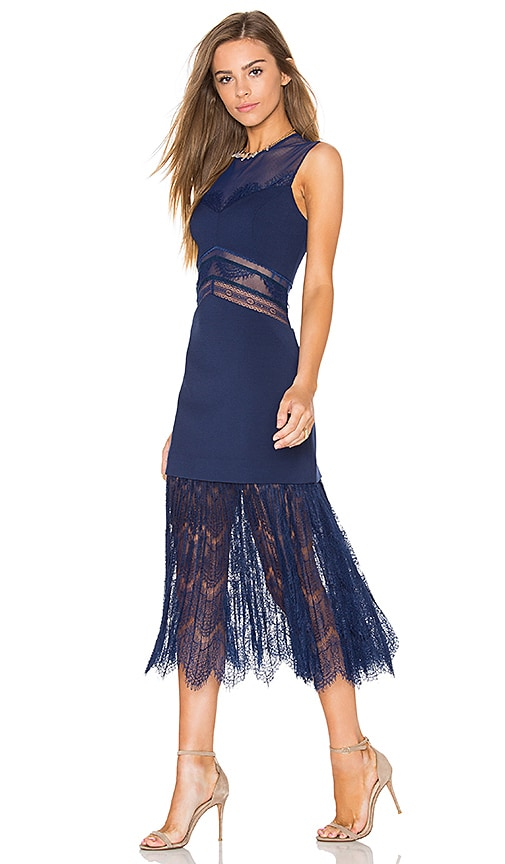 Three Floor Tessle Dress in Midnight Blue