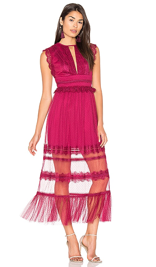 Three Floor Zen Dress in Fuchsia