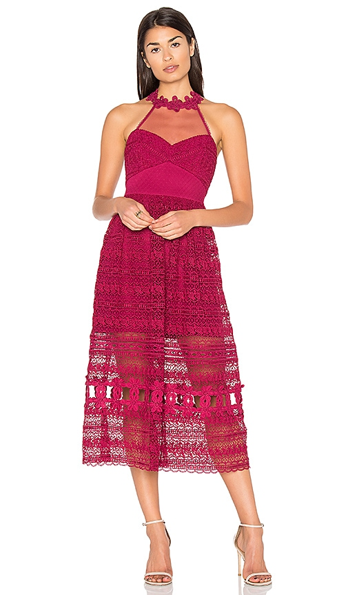 Three Floor Sun Days Dress in Fuchsia