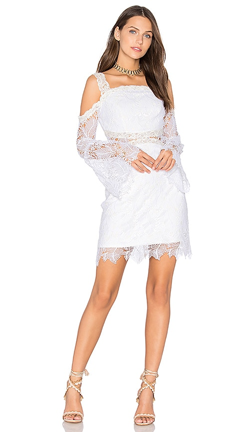 Three Floor Angelic Dress in White