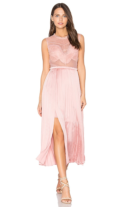 Three Floor Pop Of Peony Dress in Pink