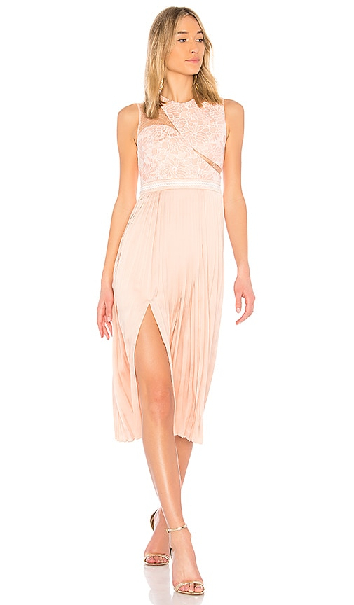 Three Floor Starlight Midi Dress in Peach