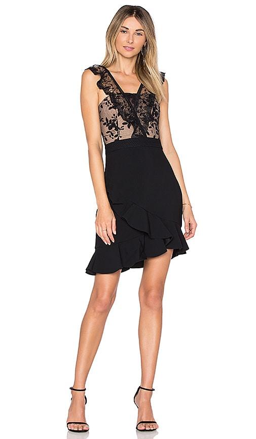 Three Floor Fiction Mini Dress in Black