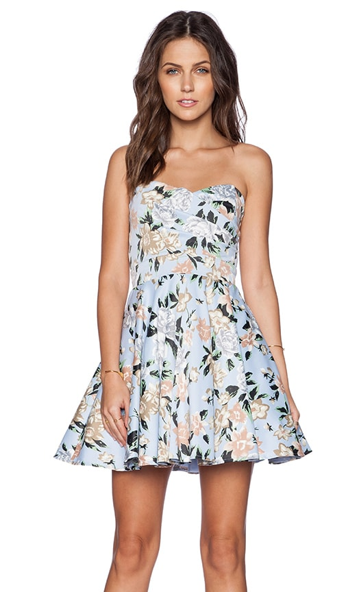 TFNC London Tibi Shape Dress in Blue Floral