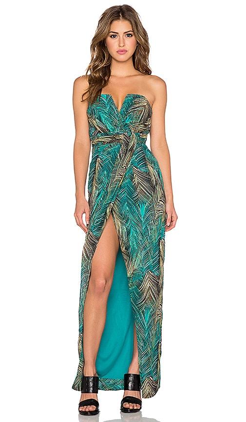 e31f5427488 TFNC London Layla Dress in Tropical Green