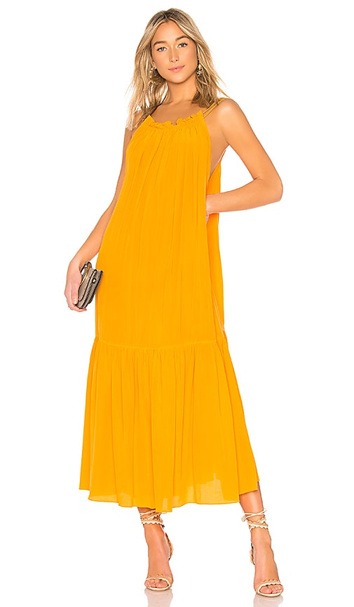 Three Graces Tatyana Dress in Tangerine