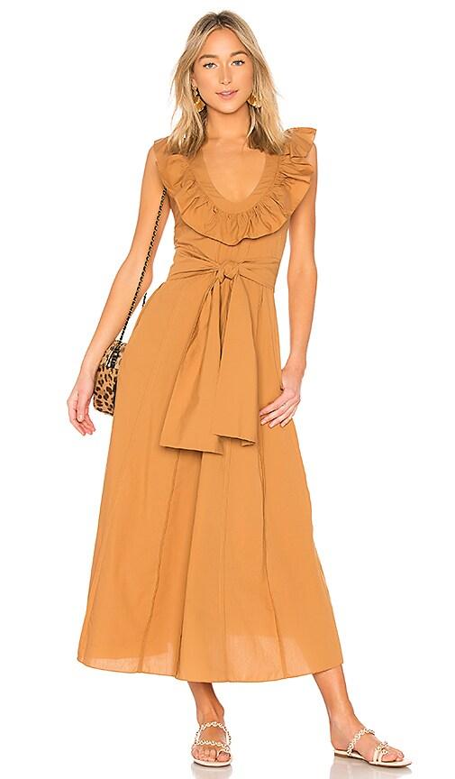 Three Graces Josephine Dress in Tan