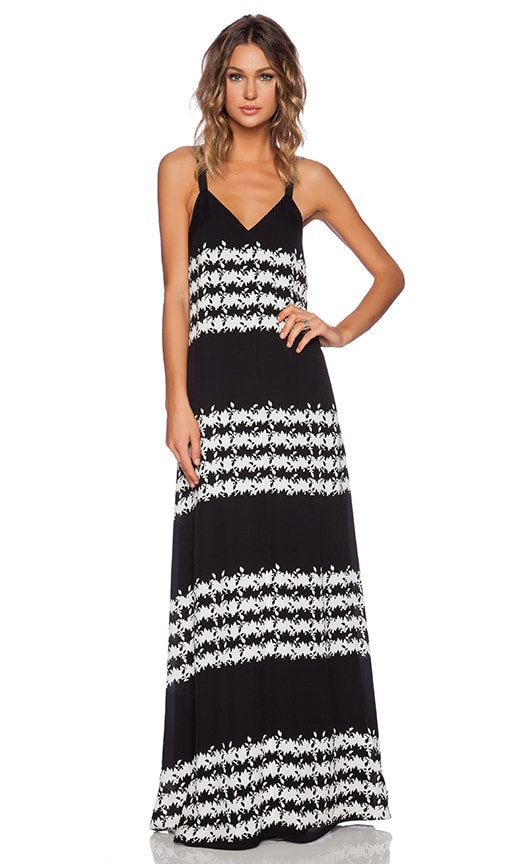 Thakoon Addition Printed Georgette Maxi Dress in Black