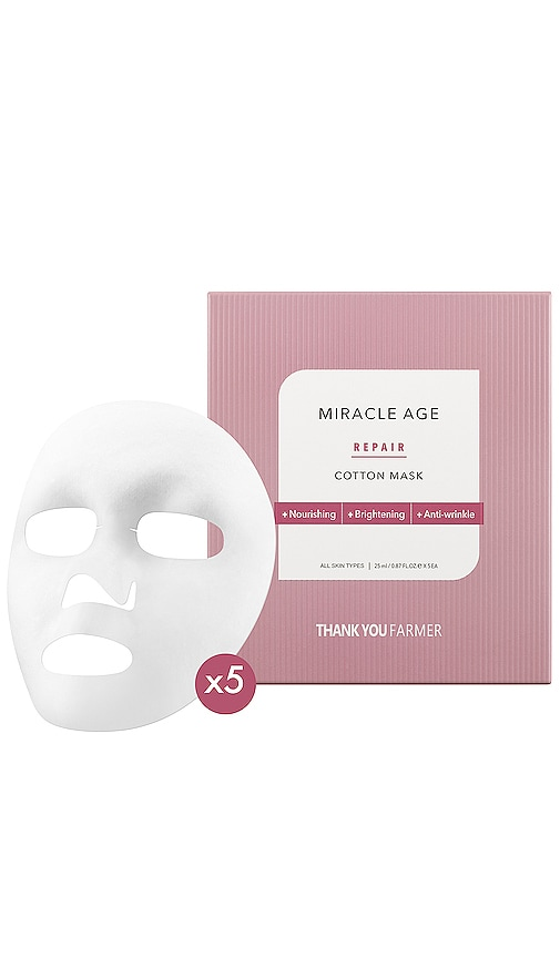 Miracle Age Repair Cotton Mask 5-Pack