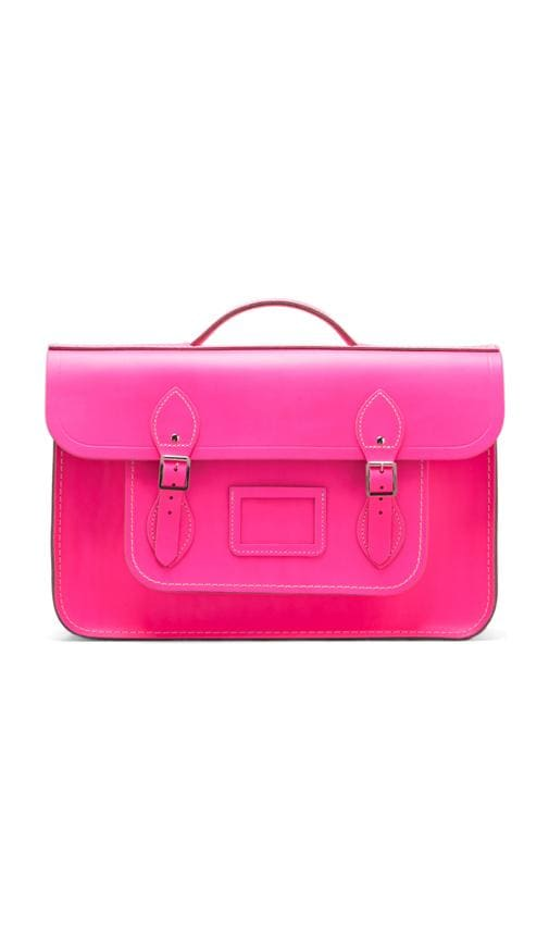 The Cambridge Satchel Company Batchel Backpack in Fluoro Pink  9d935b96617a9