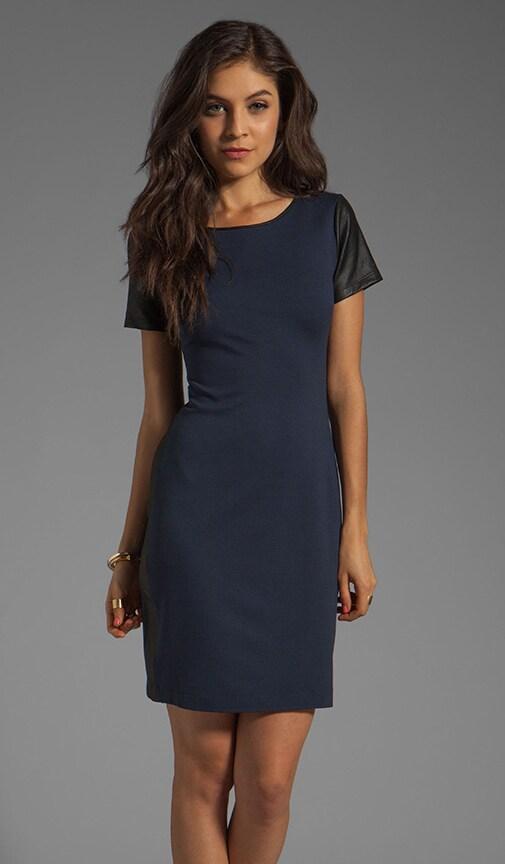 Pryor Leilana Ponti Leather Combo Dress