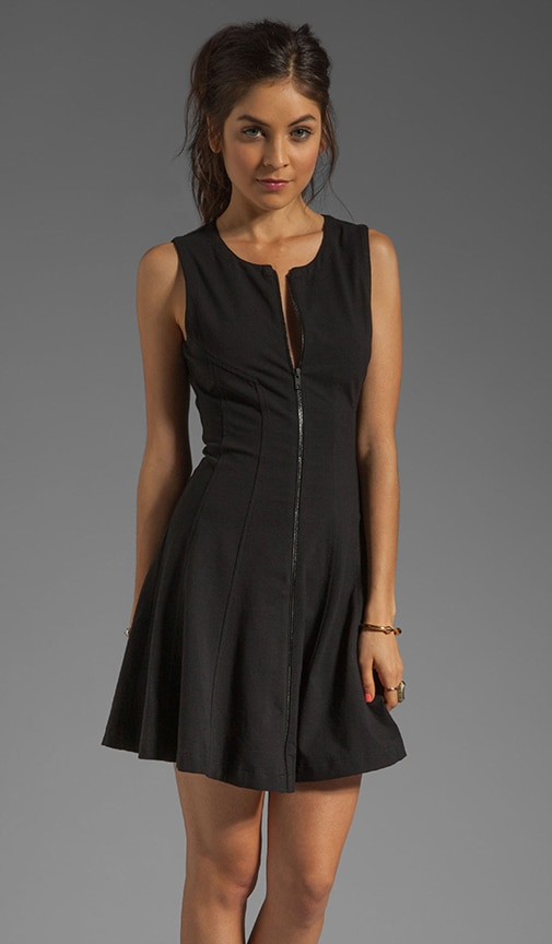 Ode Bonbi B Zipper Jersey Dress