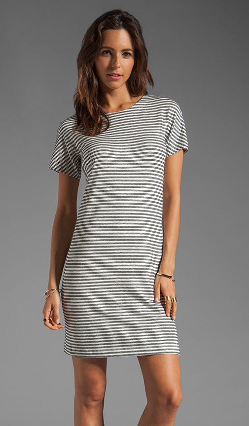 Meru Adiany B Striped Jersey Dress