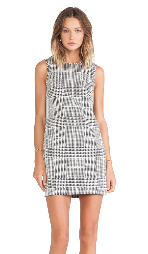 Adraya Plaid Jacquard Dress