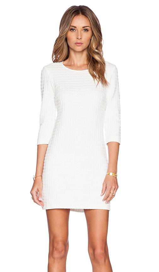 Theory Mini Shift Dress in White & White