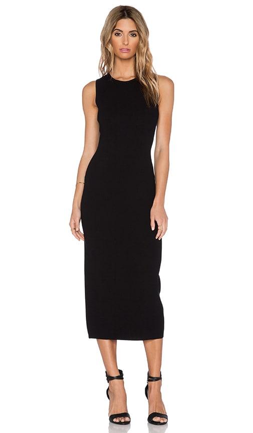 Theory Vysa Midi Dress in Black & White