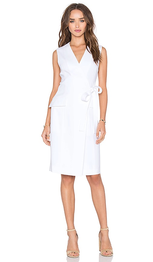 Theory Livwilth Dress in White