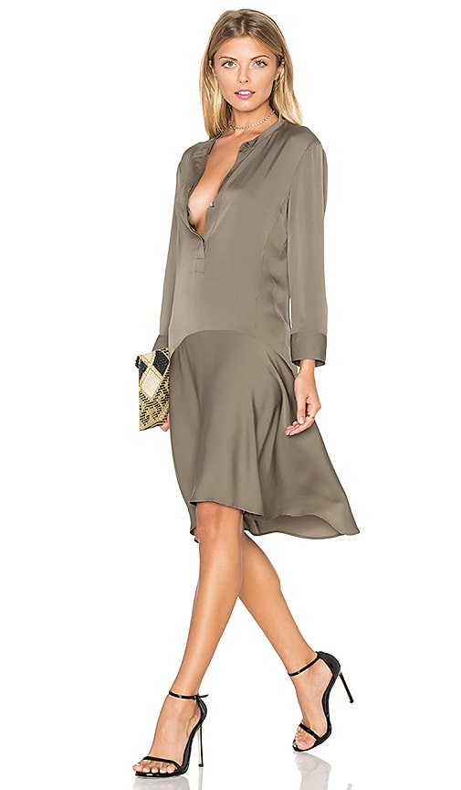 Theory Carstan Dress in Military