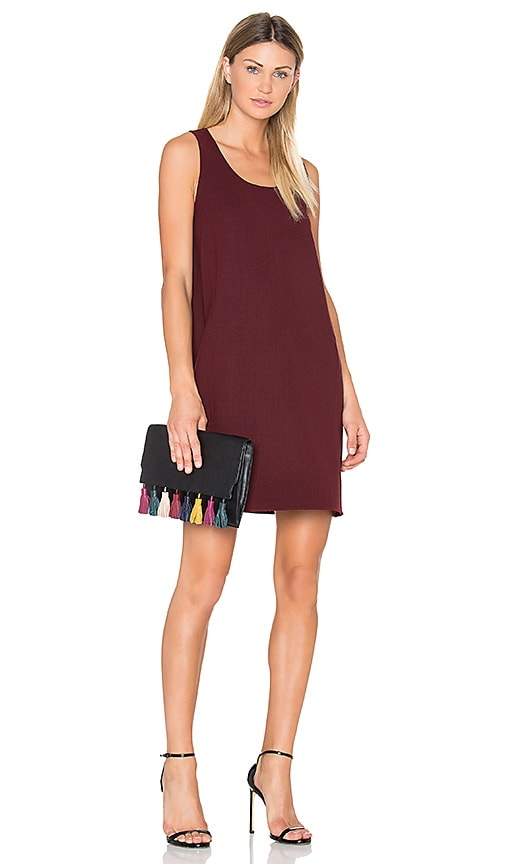 Theory Kestel Dress in Burgundy