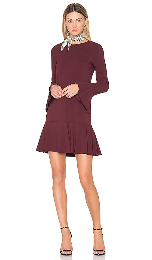 Theory Marah Dress in Burgundy