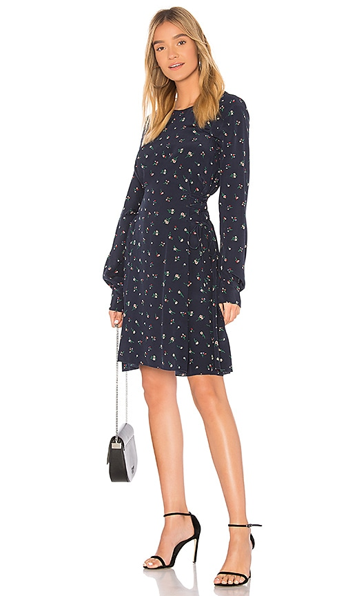 Theory Laced Flower Dress in Navy