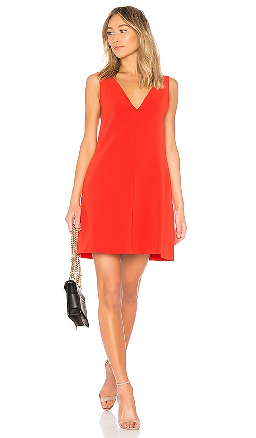 Theory V Shift Dress in Red